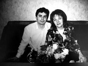 Дмитрий Ефремов с женой Аней.