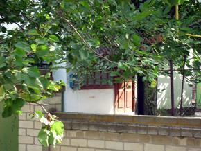 Дом, в котором живут Саша и его мама.