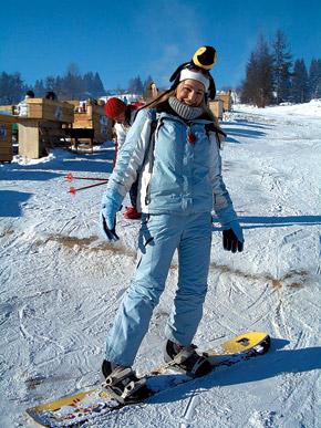 Сноубордисты привозят с собой в горы даже пингвинов.