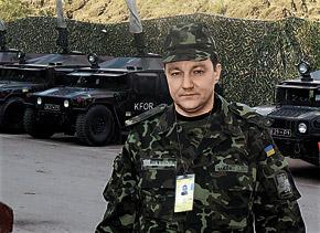 Журналист «КП» Дмитрий Тымчук на базе миротворцев.