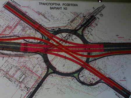 По такой схеме будет двигаться транспорт на Харьковской площади.